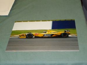 "JORDAN 199 Damon Hill Silverstone. 12x8"" action photo (a)"